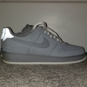 Air force 1s Grey and white